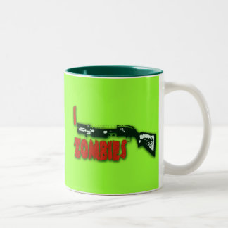 I SHOTGUN ZOMBIES Two-Tone COFFEE MUG