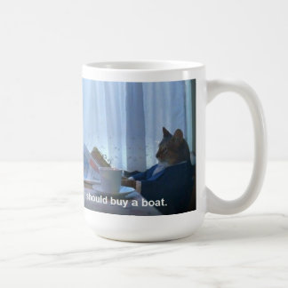 I should buy a boat cat meme mug
