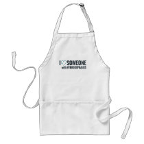 I Shunt Heart Someone with Hydrocephalus Adult Apron