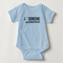 I Shunt Heart Someone with Hydrocephalus Baby Bodysuit
