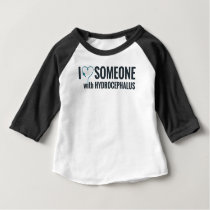 I Shunt Heart Someone with Hydrocephalus Baby T-Shirt