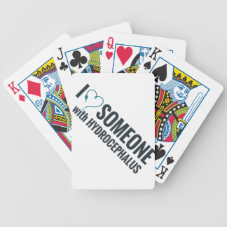 I Shunt Heart Someone with Hydrocephalus Bicycle Playing Cards
