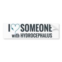 I Shunt Heart Someone with Hydrocephalus Bumper Sticker