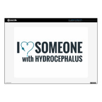 I Shunt Heart Someone with Hydrocephalus Laptop Decal
