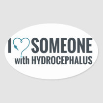 I Shunt Heart Someone with Hydrocephalus Oval Sticker