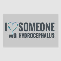 I Shunt Heart Someone with Hydrocephalus Rectangular Sticker