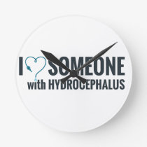 I Shunt Heart Someone with Hydrocephalus Round Clock