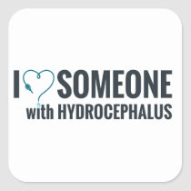 I Shunt Heart Someone with Hydrocephalus Square Sticker