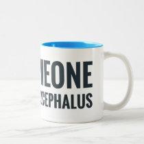 I Shunt Heart Someone with Hydrocephalus Two-Tone Coffee Mug
