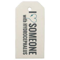 I Shunt Heart Someone with Hydrocephalus Wooden Gift Tags