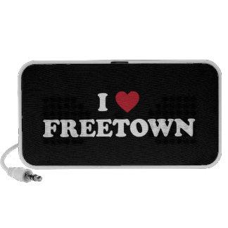 I Sierra Leone de Freetown del corazón Laptop Altavoces