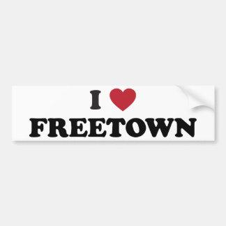 I Sierra Leone de Freetown del corazón Pegatina Para Auto