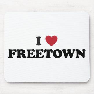 I Sierra Leone de Freetown del corazón Tapetes De Ratón