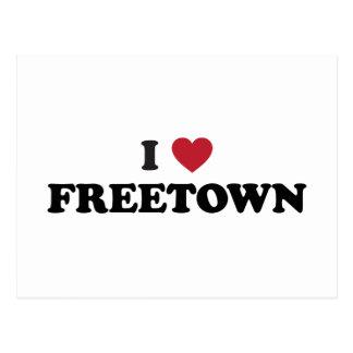 I Sierra Leone de Freetown del corazón Tarjetas Postales