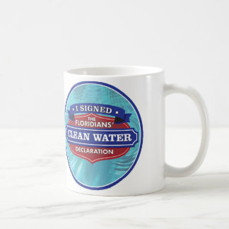 I Signed The Floridians' Clean Water Declaration Classic White Coffee Mug