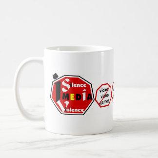 I Silence Media Violence lh-Mug Classic White Coffee Mug