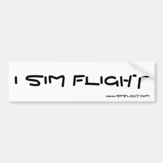 I SIM FLIGHT, WWW.SIMFLIGHT.COM CAR BUMPER STICKER