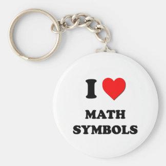 I símbolos de la matemáticas del corazón llaveros personalizados