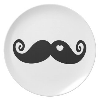 I simply love Moustache Party Plate