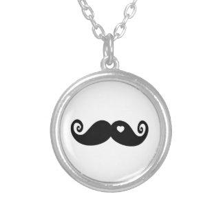 I simply love Moustache Round Pendant Necklace