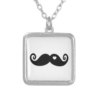 I simply love Moustache Square Pendant Necklace