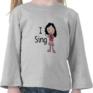 I Sing Female Tshirts and Gifts