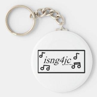 I Sing for Jesus Basic Round Button Keychain