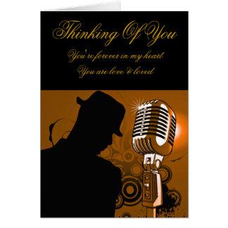I Sing Male_ Greeting Card