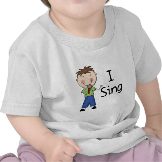 I Sing - Male Tshirts and Gifts