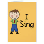 I Sing - Male Tshirts and Gifts Cards