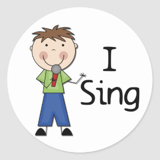 I Sing - Male Tshirts and Gifts Classic Round Sticker