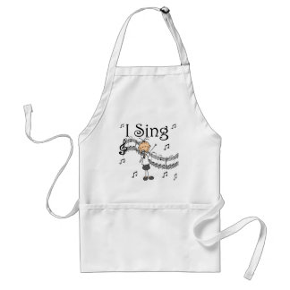 I Sing Musical Stick Figure T-shirts and Gifts Adult Apron
