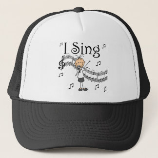 I Sing Musical Stick Figure T-shirts and Gifts Trucker Hat