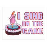 I Sing On The Cake Postcard