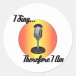 I sing round sticker