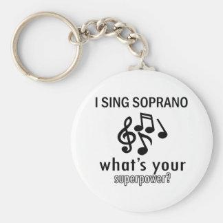 I sing Soprano Keychains