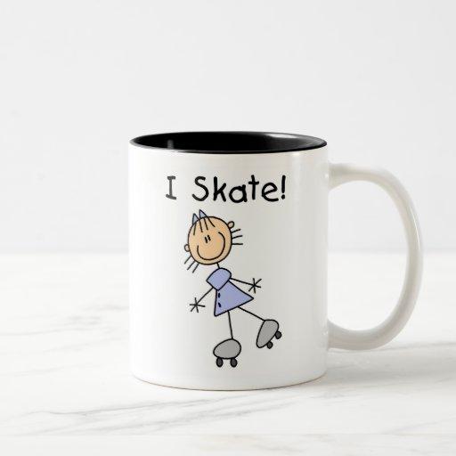 I Skate Girl Roller Skater Coffee Mugs