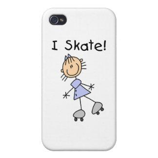 I Skate - Girl Roller Skater iPhone 4/4S Cases