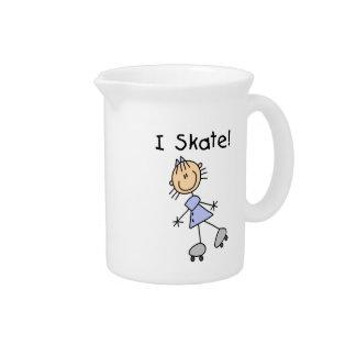 I Skate - Girl Roller Skater Pitchers