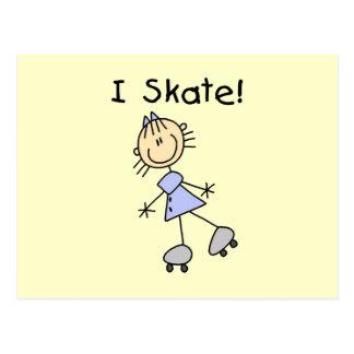 I Skate - Girl Roller Skater Postcard