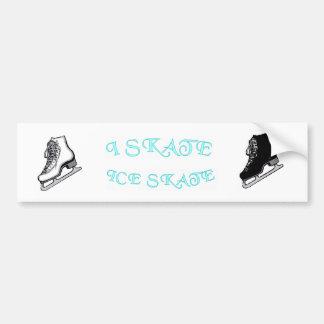 I Skate, Ice skate Bumper Sticker