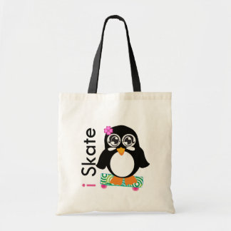 i Skate Penguin Tote Bags