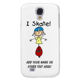 I Skate Skateboarding Girl Samsung Galaxy S4 Case