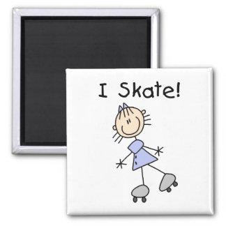 I Skate Stick Figures Magnet