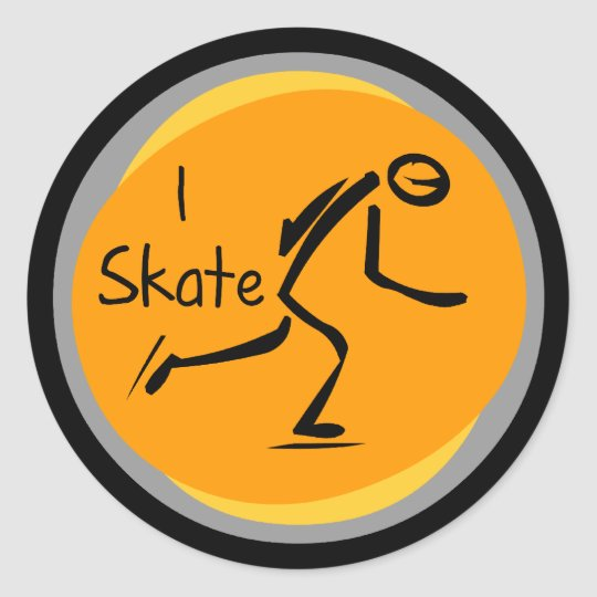 I Skate T-shirts and Gifts Classic Round Sticker