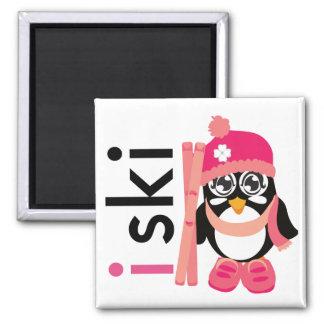 I Ski Penguin Fridge Magnets