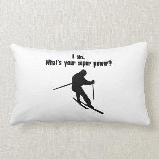I Ski. What's Your Super Power? Throw Pillows