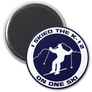 I Skied The K-12 Magnet
