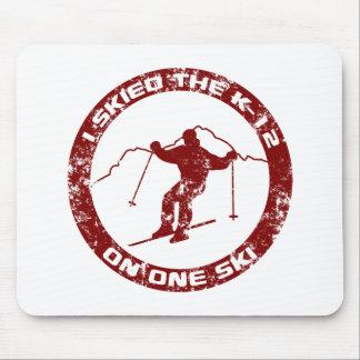 I Skied The K-12 Mouse Pad