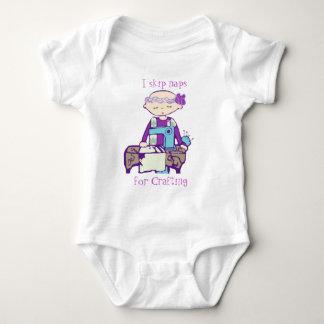 I skip naps for crafting baby bodysuit
